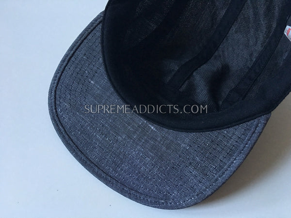Supreme Denim Camp Cap - Grey