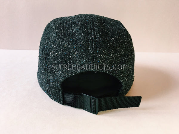 Supreme Donegal Herringbone Cap - Black