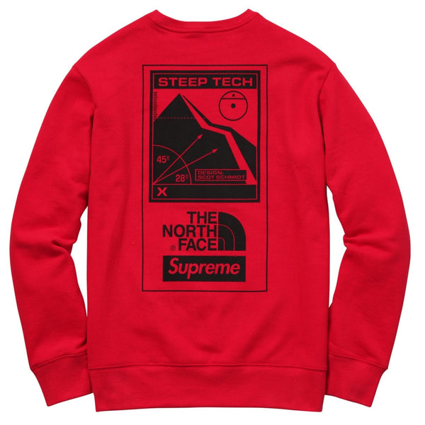 Supreme / The North Face Steep Tech Crewneck - Red