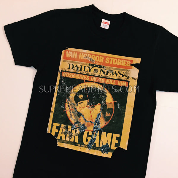 Supreme Snow Dash Sadam Tee - Black