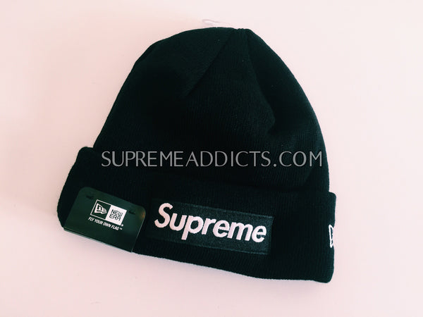 Supreme Box Logo Beanie - Black – SUPREME ADDICTS 29e7b0f14eb