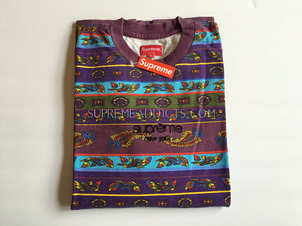 Supreme Paisley L/S Top - Purple