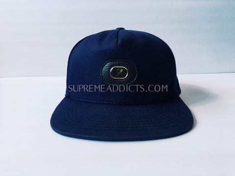 Supreme Waxed Cotton 5-Panel - Navy