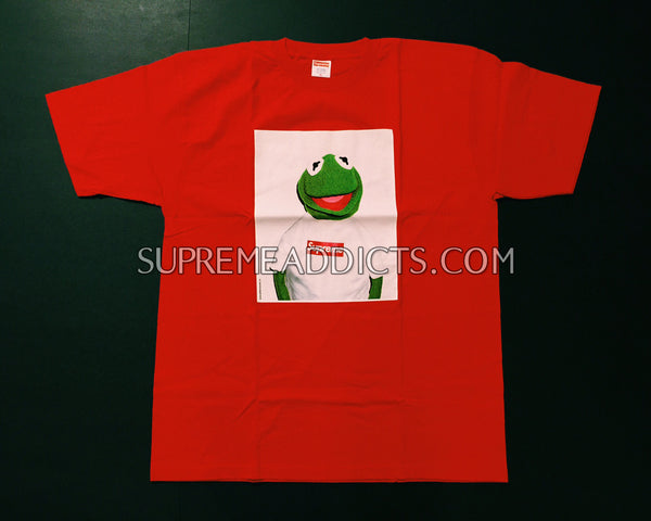 Supreme Kermit Photo Tee - Red – SUPREME ADDICTS 5fb147277