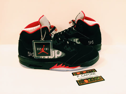 Air Jordan 5 Retro Supreme - Black