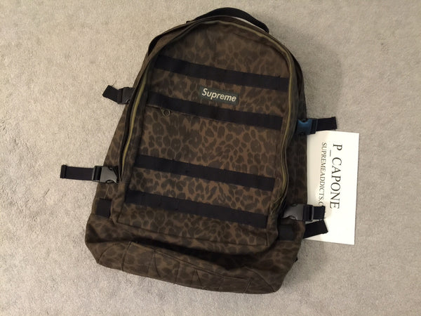 Supreme Leopard 16th Backpack - Vintage
