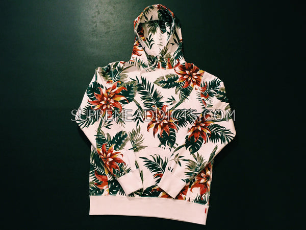 Supreme Floral Pullover Hoodie - White