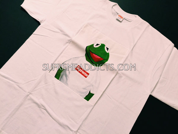 d3b81b8ba7e4 Supreme Kermit Tee Shirt - White – SUPREME ADDICTS
