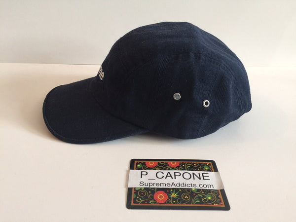 Supreme Vintage Herringbone Camp Cap - Navy