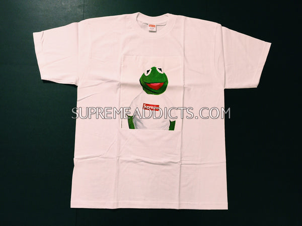 6e995b7aa8ac Supreme Kermit Tee Shirt - White – SUPREME ADDICTS