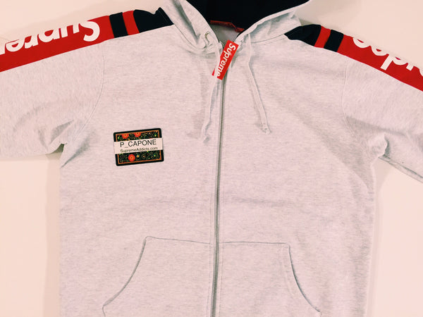 Supreme Hooded Track Zip-Up Sweat - Grey