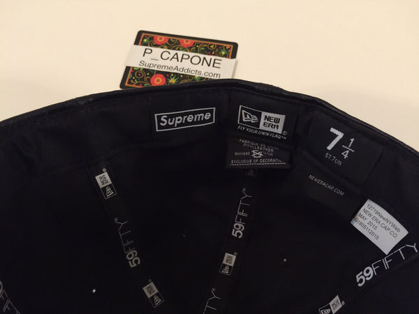 Supreme x New Era Leather Box Logo Fitted