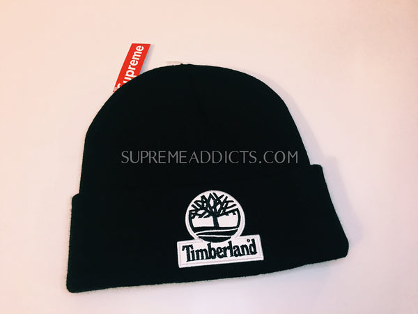 b036a1c12d7d4 Supreme   Timberland Beanie - Black – SUPREME ADDICTS
