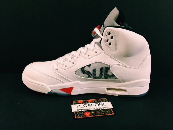 Air Jordan 5 Retro Supreme - White