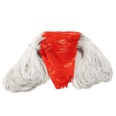 100m Roped Orange Safety Flagging / Bunting
