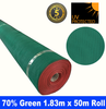 Shade Cloth Roll - 70% x 1.83m x 50m (Green)