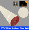 Shade Cloth Roll - 70% x 1.83m x 50m (White)