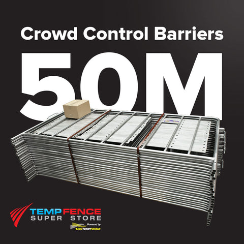 50m Pack of 2.2m Galvanised Crowd Control Barriers