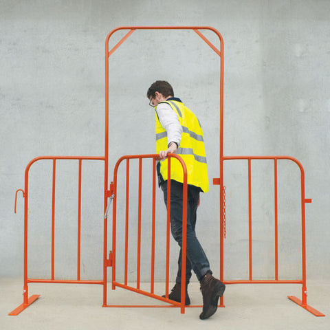 Orange Crowdie Gate (Self Closing Pedestrian Gate)
