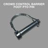 25m Pack of 2.2m Orange Crowd Control Barriers