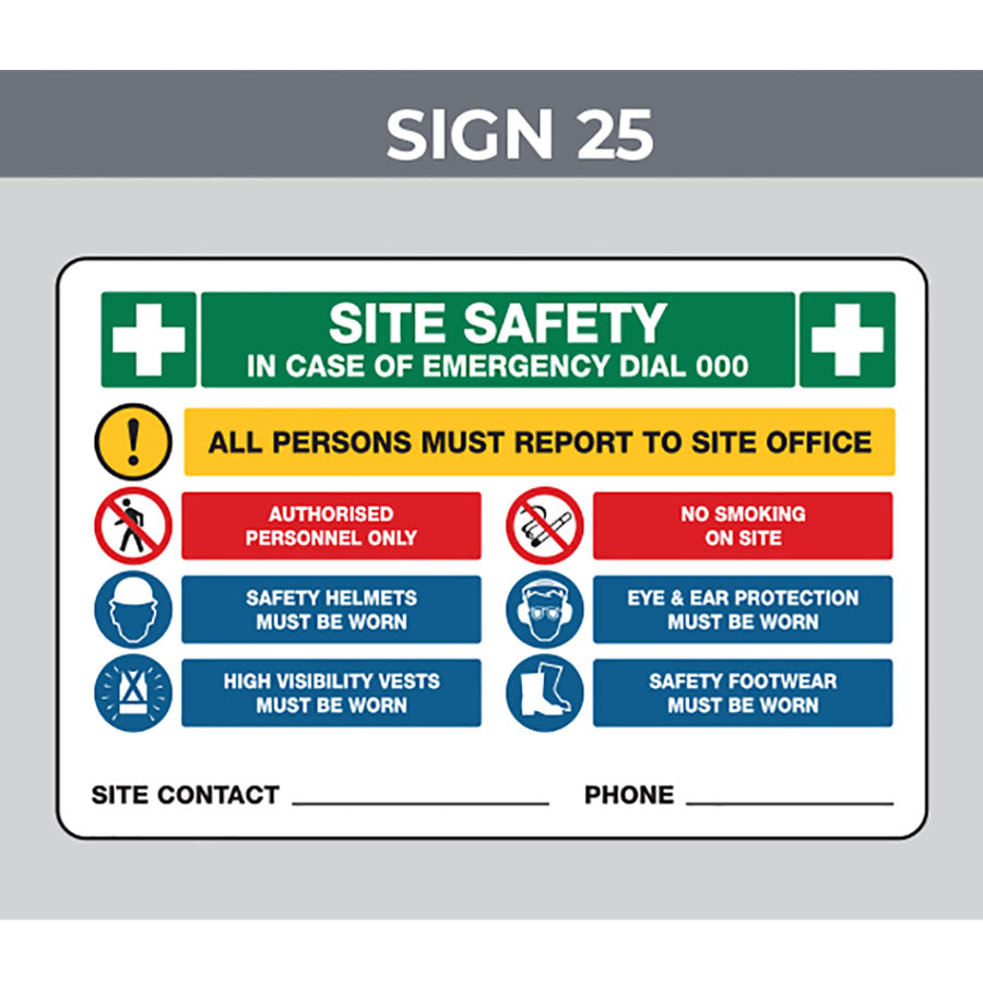 Safety Signage - Size 900 x 600mm