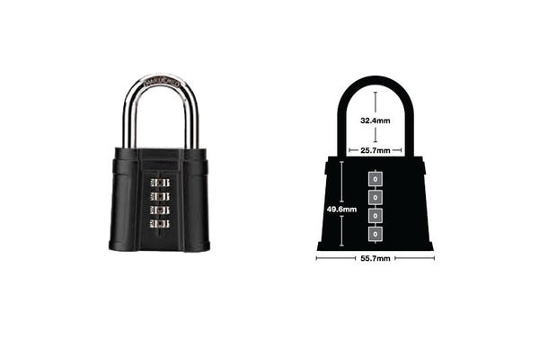 Short Shackle Combination Lock