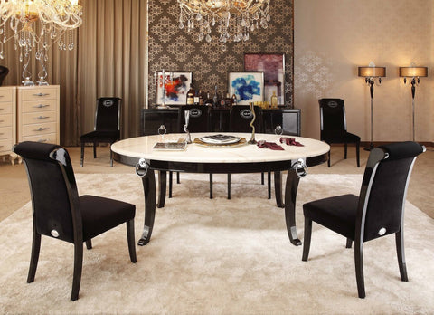 A&X Bellagio Luxurious Transitional Marble  Dining Table VGUNRC831-202 - Pearl Igloo - 1