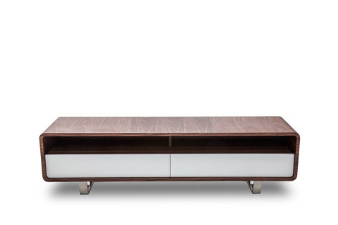 Modrest Avis Modern Walnut & White TV Stand VGHB136F-WAL - Pearl Igloo - 1