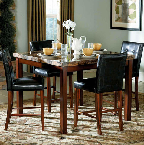 Achillea 5Pcs Counter Height Dining Set 3273 - Pearl Igloo - 1