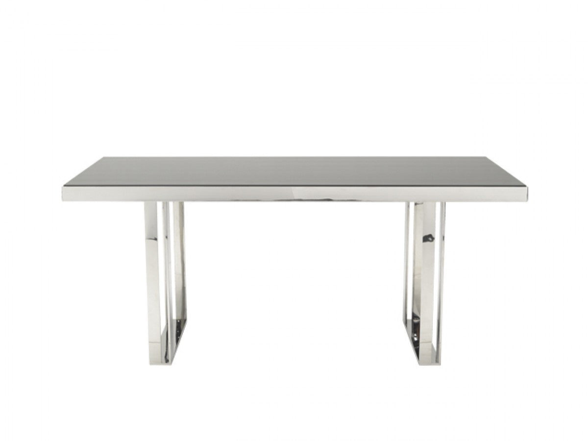 Stainless Steel Outdoor Dining Table Vig Modrest Courtland Modern Stainless Steel Dining Table Vghb212t
