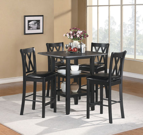 Norman 5Pcs Counter Height Dining Set 2514BK-36 - Pearl Igloo - 1
