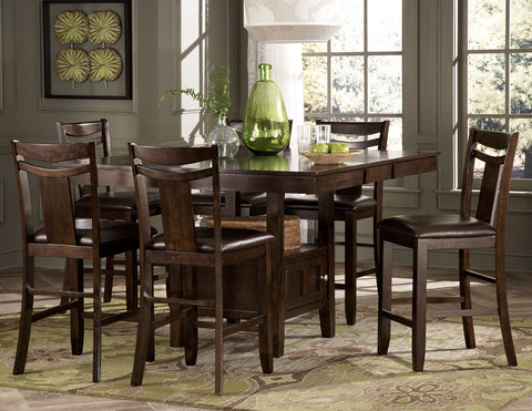 Broome 5Pcs Counter Height Dining Set 2524 - Pearl Igloo - 1