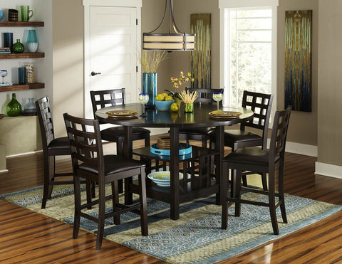 Glendine 5Pcs Round Counter Height Dining Set 2611 - Pearl Igloo - 1