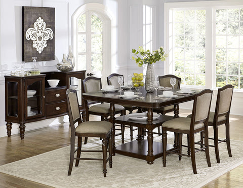 Marston 5Pcs Counter Height Dining Set 2615DC - Pearl Igloo - 1