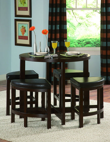 Brussel II 5Pcs Counter Height Dining Set 3292-36 - Pearl Igloo