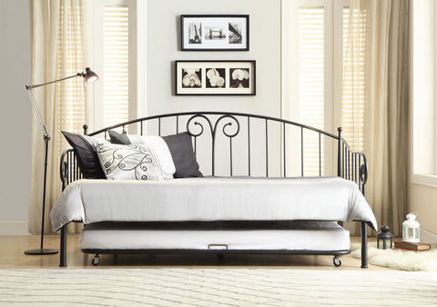 Courtney Metal Daybed with Trundle 4960DB-NT - Pearl Igloo - 1
