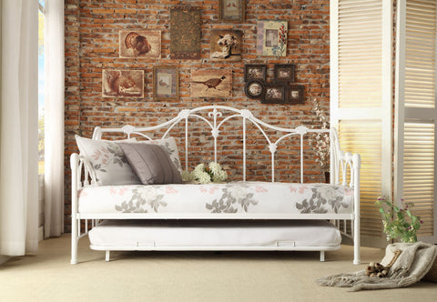 Julia Metal Daybed with Trundle 4961DB-NT - Pearl Igloo - 1