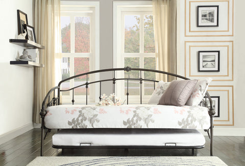 Ruby Metal Daybed with Trundle 4962DB-NT - Pearl Igloo - 1