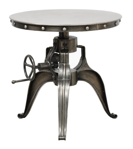 "Afton Crank Table 22"" Nickel SKU51007181 - Pearl Igloo - 1"