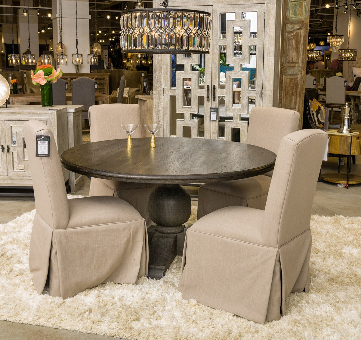 Classic Home Ventura 60 Espresso Dining Table 51010900 Pearl Igloo .