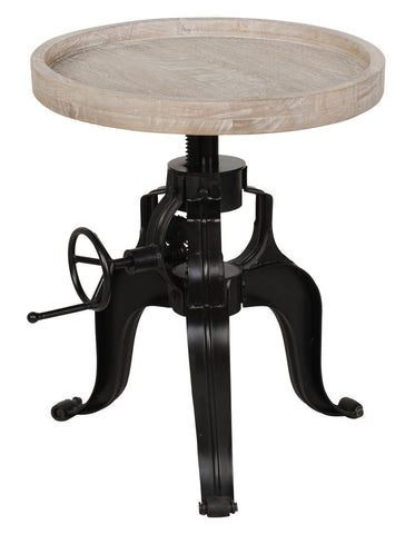 "Dover Round 22"" Crank Table SKU51010946 - Pearl Igloo - 1"