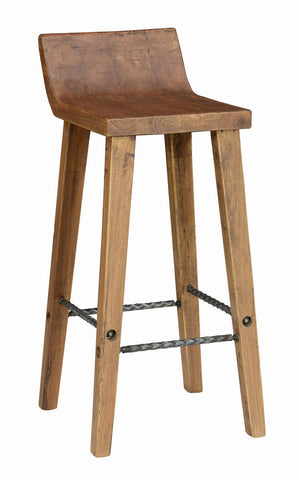 "Arturo 30"" Low Back Barstool 53003520 - Pearl Igloo - 1"
