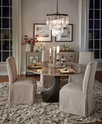 Adele Dining Chair Stone Linen - 53050272 (2piece) Free Shipping - Pearl Igloo - 1