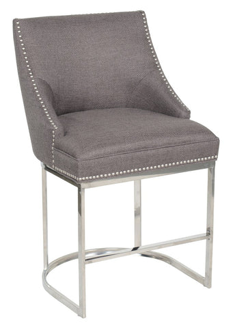 Calvin Smoke Brn Counter Stool 53050331 - Pearl Igloo - 1