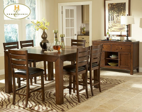 Eagleville 5Pcs Counter Height Dining Set 5346 - Pearl Igloo - 1