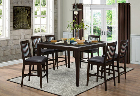 Pasco 5Pcs Counter Height Dining Set 5401 - Pearl Igloo - 1