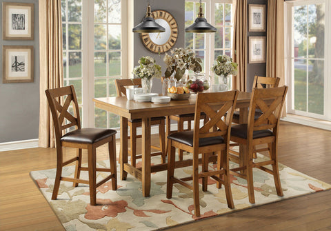 Burrillville 7Pcs Counter Height Table & Chair Set 5426 - Pearl Igloo - 1