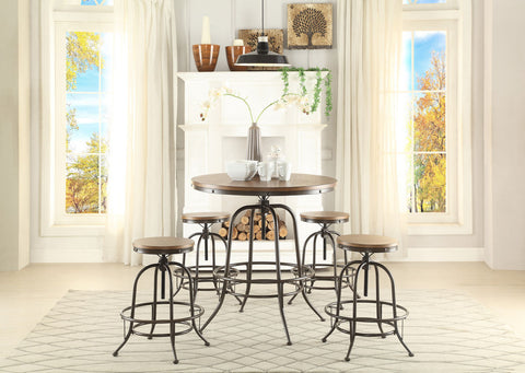 Angstrom 5Pcs Round Counter Height Table & Stool Set 5429 - Pearl Igloo - 1