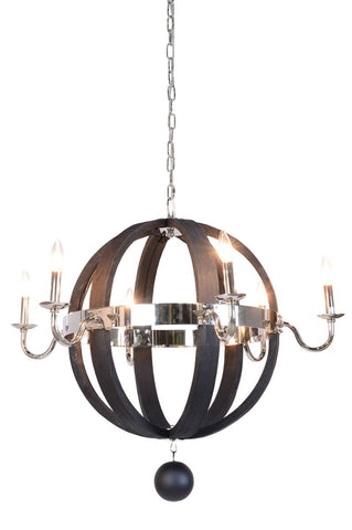 "Lamour Round Chandelier 31"" - 56004121 Free Shipping - Pearl Igloo"