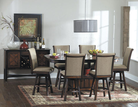 Westwood 7Pcs Counter Height Dining Set with Swivel Chair 626 - Pearl Igloo - 1
